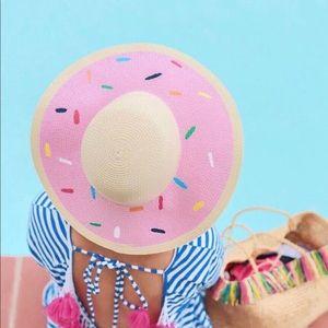 Accessories - Cupcake dessert treat pink floppy sun hat NWT